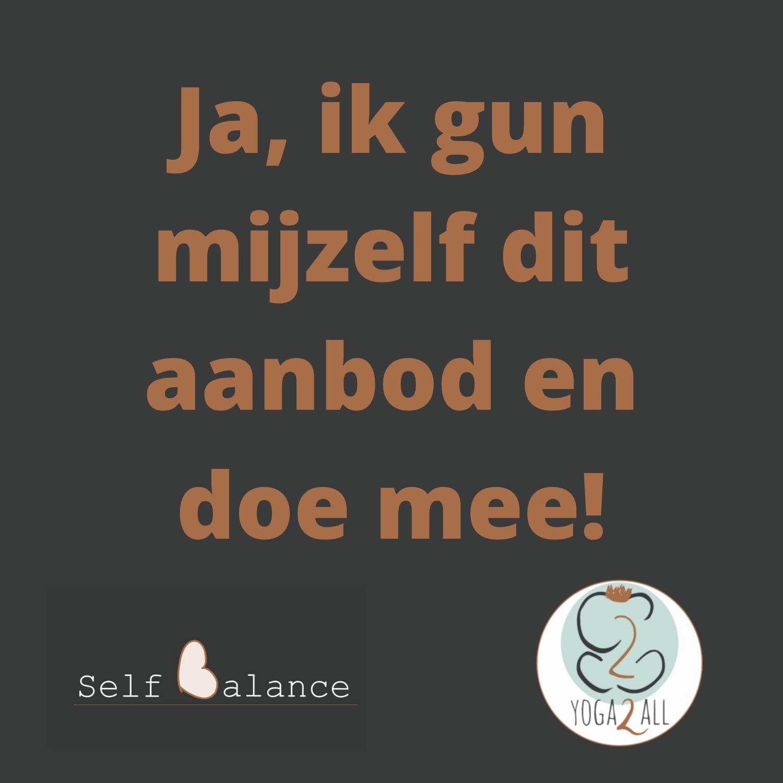 Self Balance aanmelden button